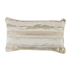 Birch Petal and Almond 14 x 24 Inch Pillow with Mohave Welt