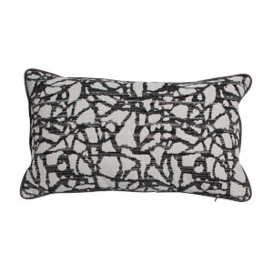 Surge Pewter 14 x 24 Inch Pillow with Welt