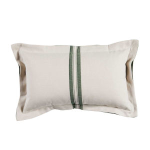 Vintage Stripe Mallard 14 x 24 Inch Pillow with Double Flange