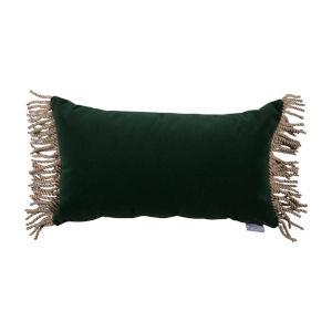 Mallard Dark Velvet and Almod 14 x 24 Inch Pillow with Bullion