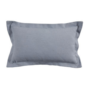 Chambray and Snow 14 x 24 Inch Pillow with Linen Double Flange