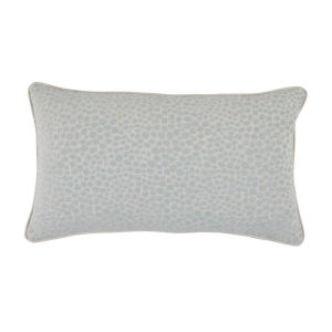 Cheetah Mist Velvet 14 x 24 Inch Pillow with Linen Welt