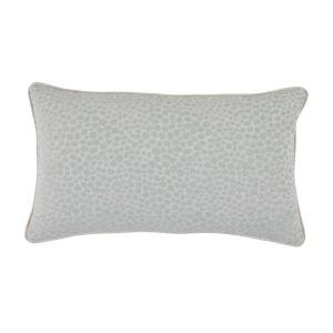 Cheetah Mist Velvet 14 x 24 Inch Pillow with Linen Welt
