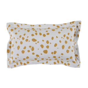 Spotty Mustard 14 x 24 Inch Pillow with Linen Single Flange