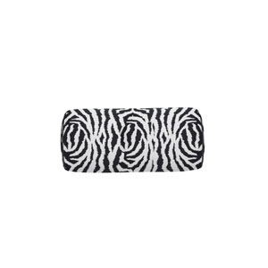 Zebra 24-Inch Midnight Small Throw Pillow
