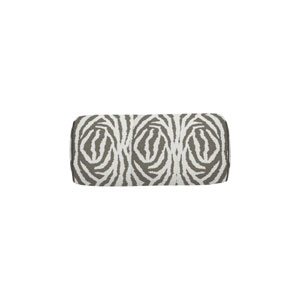 Zebra 24-Inch Pewter Small Throw Pillow