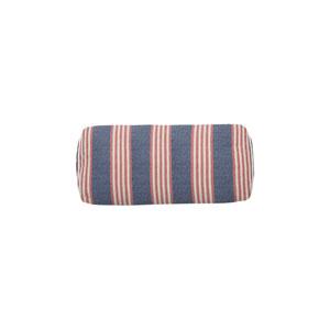 Bradford Stripe 24-Inch Indigo and Flamingo Small Throw Pillow
