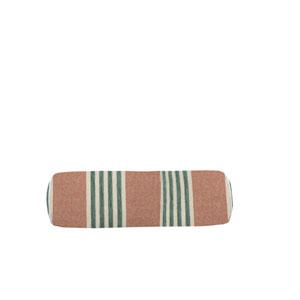 Bradford Stripe 24-Inch Cajun and Mist Small Throw Pillow