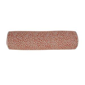 Cheetah Terra Cotta Velvet 7 x 24 Inch Pillow with Linen Welt