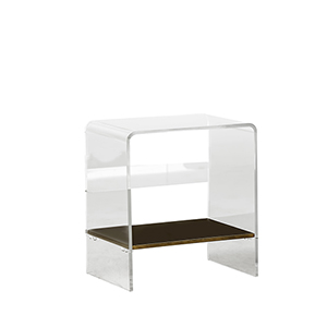Sloan Antique Brass and Clear Acrylic Table
