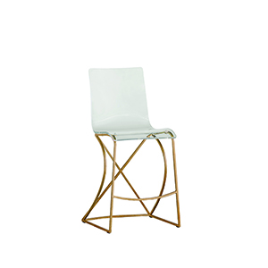 Johnson Antique Gold and Clear Acrylic Counter Stool