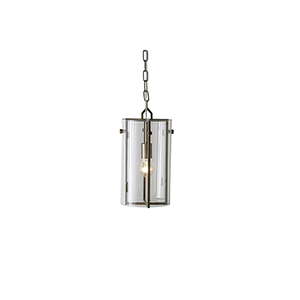 Sharon Antique Brass and Clear Glass One-Light Mini Pendant