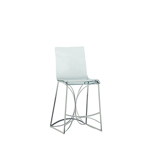 Angela Antique Silver and Clear Acrylic Counter Stool