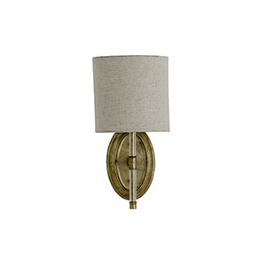 Belfast Antique Gold One-Light Wall Sconce