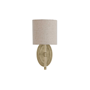 Belfast Champagne Silver One-Light Wall Sconce