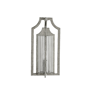 Lola Champagne Silver One-Light Wall Sconce