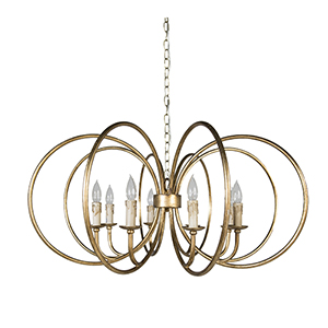 Alta Antique Gold Eight-Light Chandelier