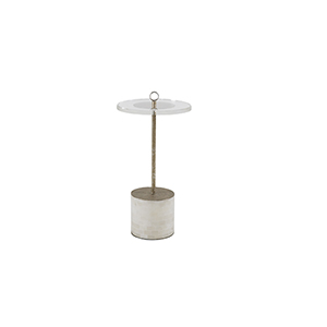 Lexi Champagne Metal Drinking Table