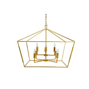 Adler Vintage Gold Eight-Light Pendant