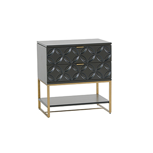 Rio  Black Satin Side Table