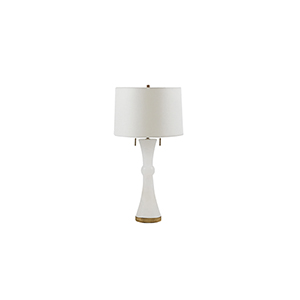 Alice Gold and Sea Salt Linen Two-Light Table Lamp