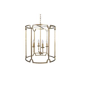 Stella Antique Gold Four-Light Pendant