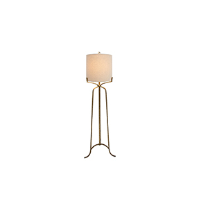 Evie Ashwell Gold One-Light Floor Lamp