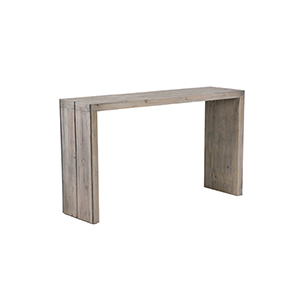 Goodman Stone Waxed Black Console Table