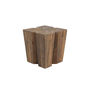 August Aged Pine Side Table