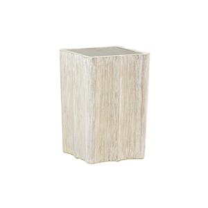 Leighton Light Whitewashed Wood Side Table