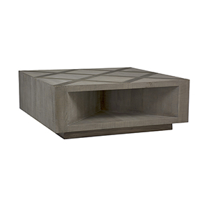 Larson Recycled Elm and Charcoal Oak Coffee Table