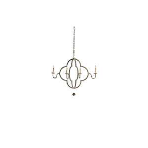 Lewis Chipped Gold Four-Light Chandelier