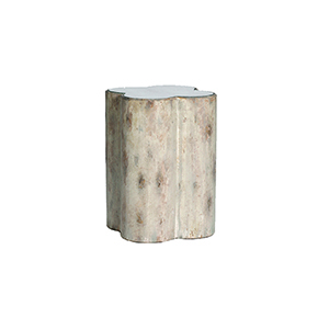 Cassandra Distressed Dove and Mirror Accent Table