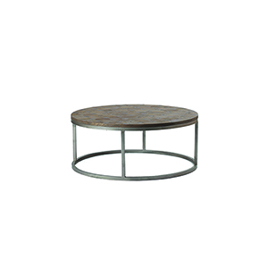 Colby Silver Antiqued Black, Buff and Burnished Brown Coffee Table