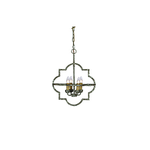 Atlas Antique Textured Silver Four-Light Pendant