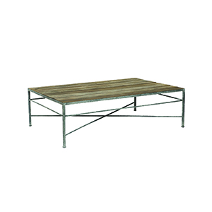 Isabelle Grey Rust and Untouched Wood Coffee Table