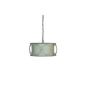 Milly Antique Textured Silver with Gold Accents One-Light Pendant