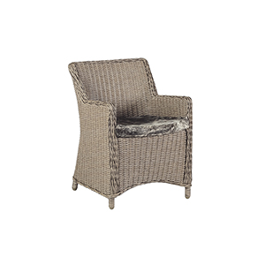 Smith Hazelnut Wicker and Natural Brown Dining Chair