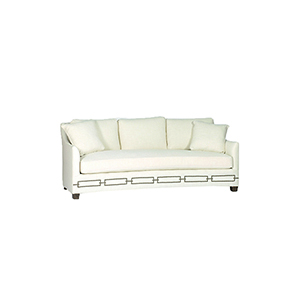 Baldwin Cream Curved Back Sofa