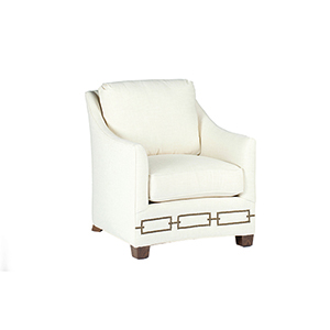 Baldwin Cream Curved Back Chair