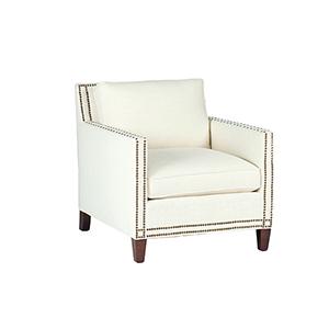 Carter Kasler Cream Chair with Antique Brass
