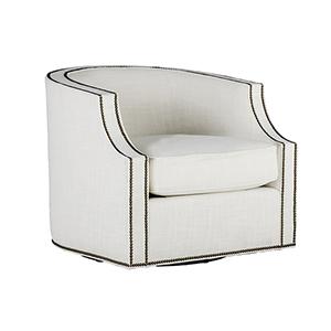 Willow Cream Swivel Club Chair