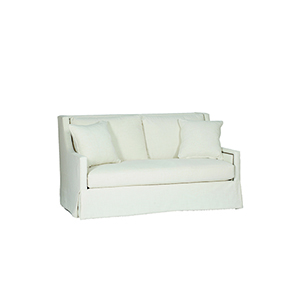 Helena Cream High Back Loveseat