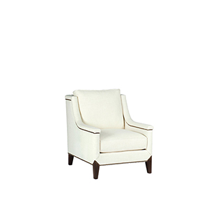 Liam Kasler Cream Chair with Antique Brass