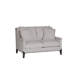 Liam Gray Capped Arm Loveseat