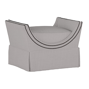 Gayle Gray Curved Frame Ottoman