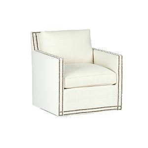 Carter Cream Track Arm Swivel Chair