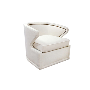 Monroe Cream Curved Back Swivel Chair
