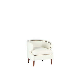 Monroe Cream Curved Back Chair