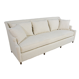 Theo Walnut 7-Foot Bench Cushion Sofa